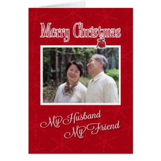 私の夫-写真カードテンプレートへのクリスマス、 カード