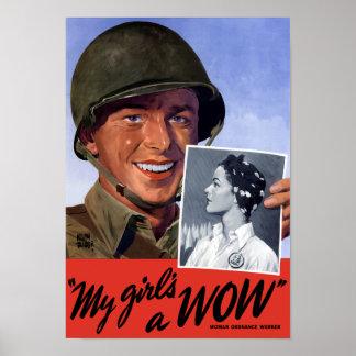 私の女の子のWOW! -- WWII ポスター