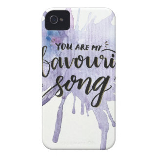 私の好みの歌です Case-Mate iPhone 4 ケース