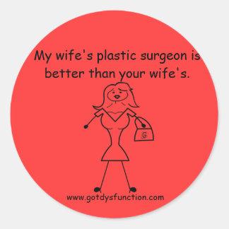 私の妻の形成外科医はよいですより… ラウンドシール