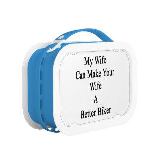 私の妻はあなたの妻によりよいバイクもしくは自転車に乗る人をすることができます ランチボックス