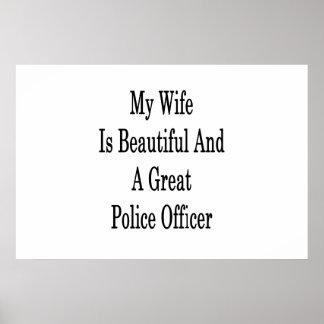 私の妻は美しく、すばらしい警官です ポスター