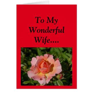 私の妻への幸せな母の日! カード