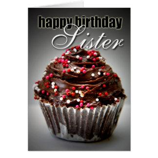 私の姉妹のための誕生日のカップケーキ カード
