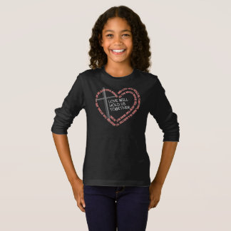 私の姉妹の看守の女の子の暗い長袖のTシャツ Tシャツ
