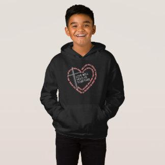 私の姉妹の看守の男の子の暗いフード付きスウェットシャツ