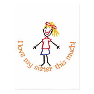 私の姉妹を愛して下さい ポストカード