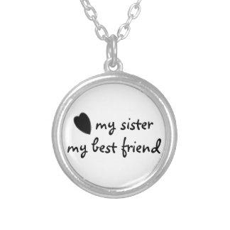 私の姉妹私の親友のネックレス シルバープレートネックレス