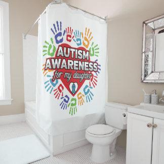 私の娘のための自閉症の認識度 シャワーカーテン