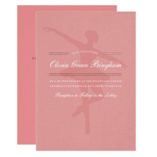 私の娘のダンスのバレエの演奏会 カード