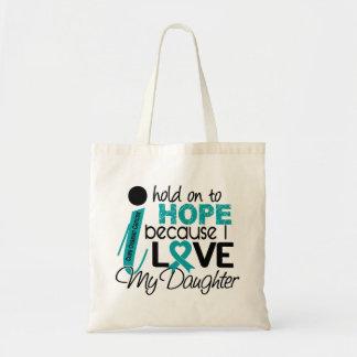 私の娘の卵巣癌のための希望 トートバッグ
