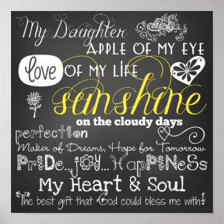 私の娘の愛およびインスピレーションポスター ポスター