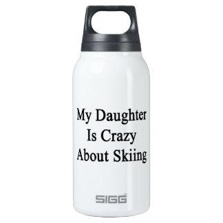 私の娘はスキーについて熱狂するです 断熱ウォーターボトル