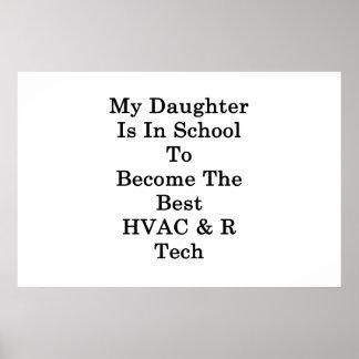 私の娘はベストHVAC Rになる学校にいます ポスター