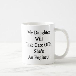 私の娘は彼女によってがエンジニアであるそれを大事にします コーヒーマグカップ