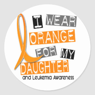 私の娘37のための白血病Iの衣服のオレンジ ラウンドシール