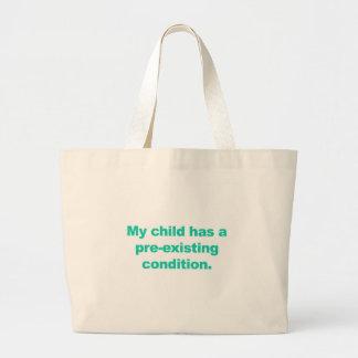 私の子供に既存の条件があります ラージトートバッグ