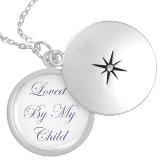 私の子供のネックレスによって愛される シルバープレートネックレス