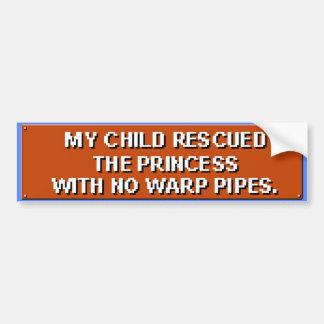 私の子供は管無しでプリンセスを救助しました バンパーステッカー