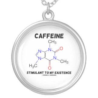 私の存在(化学)へのカフェインの興奮剤 シルバープレートネックレス
