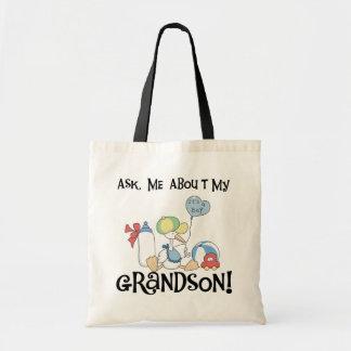 私の孫のTシャツおよびギフトについて尋ねて下さい トートバッグ