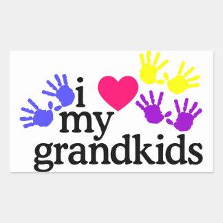私の孫を愛して下さい 長方形シール