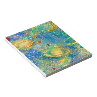 私の宇宙メモ帳を着色して下さい ノートパッド