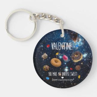 私の宇宙菓子のバレンタインを作ります キーホルダー