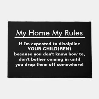 私の家子供へ私の規則 ドアマット