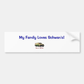 私の家族はSchwanを愛します! バンパーステッカー