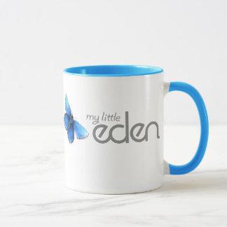 私の小さいエデンの青い蝶マグ マグカップ