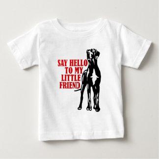 私の小さい友人に挨拶して下さい ベビーTシャツ