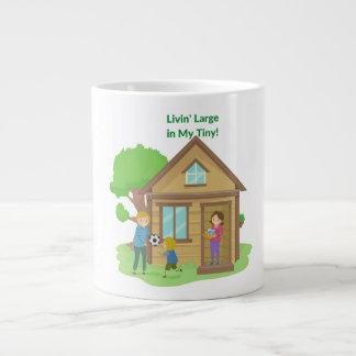 私の小さい家のマグで大きいLivin ジャンボコーヒーマグカップ