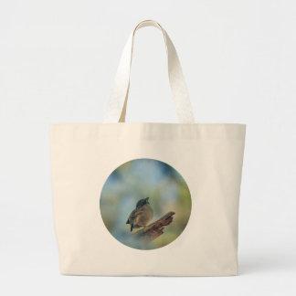 私の小さい鳥 ラージトートバッグ