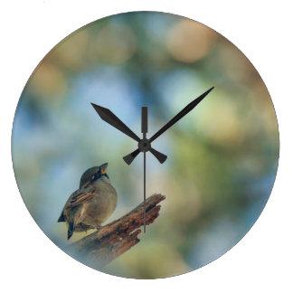 私の小さい鳥 ラージ壁時計