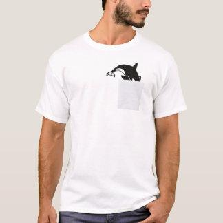 私の小型のおもしろTシャツのクジラ Tシャツ