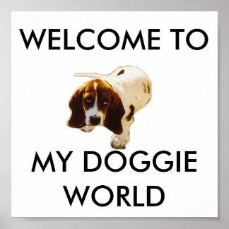 私の小犬の世界、歓迎への ポスター