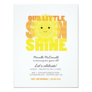 私の少し日光の子供の誕生会 カード