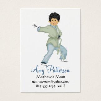 私の少し空手のお母さんカード 名刺