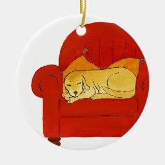 私の居心地のよく赤い椅子 セラミックオーナメント