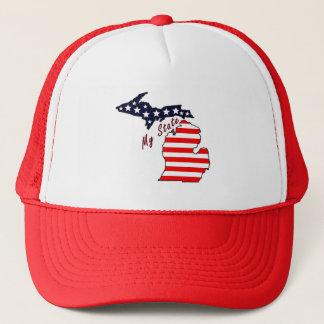 私の州: ミシガン州のトラック運転手の帽子 キャップ