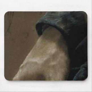 私の左手1848年と描かれる私の右手 マウスパッド