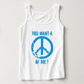 私の平和がほしいと思います タンクトップ