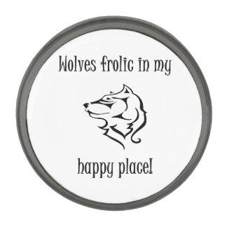 私の幸せな場所のオオカミの遊戯 ガンメタルラペルピン