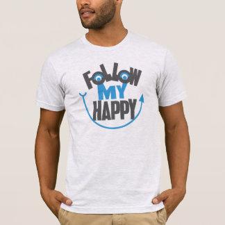 私の幸せなTシャツを後を追って下さい Tシャツ