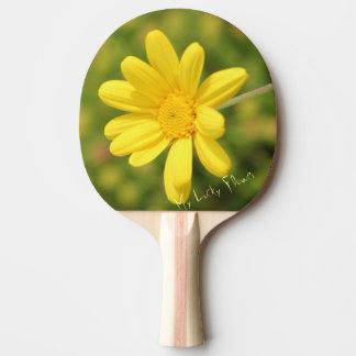 私の幸運で黄色い花の卓球ラケット 卓球ラケット