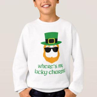 私の幸運なチャームはどこにありますか。 セントパトリック日の小妖精 スウェットシャツ