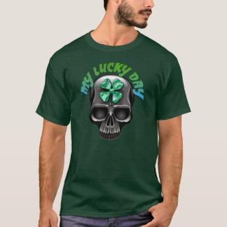 私の幸運な日のTシャツ Tシャツ