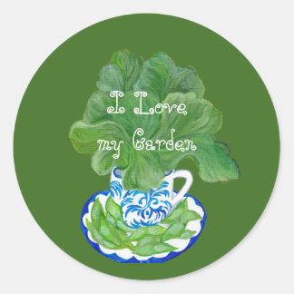 私の庭を愛して下さい ラウンドシール