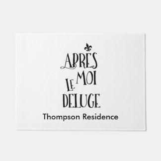 私の後洪水-フランスのな表現 ドアマット
